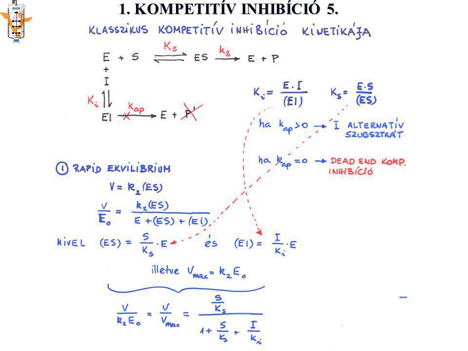1. KOMPETITÍV INHIBÍCIÓ 5.