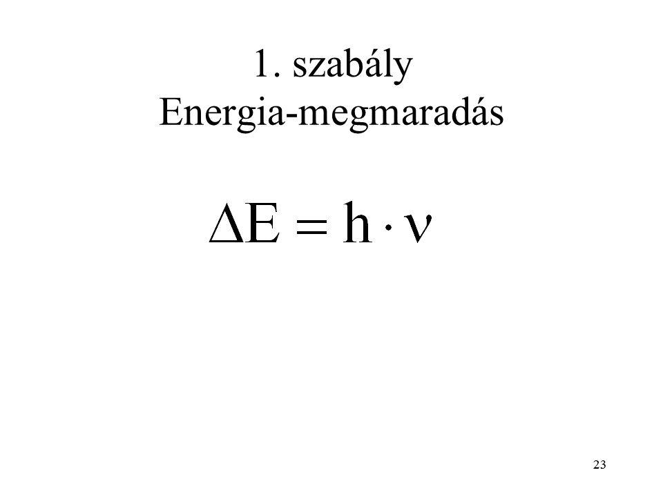 1. szabály Energia-megmaradás