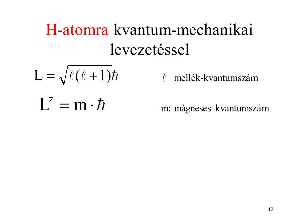 H-atomra kvantum-mechanikai levezetéssel