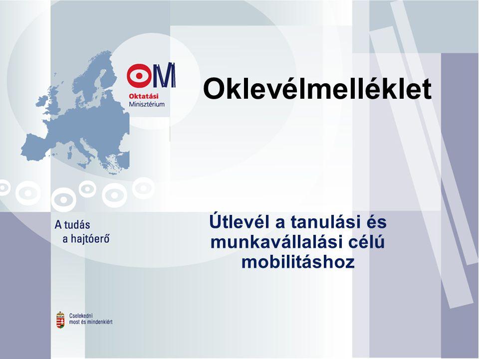 Útlevél a tanulási és munkavállalási célú mobilitáshoz