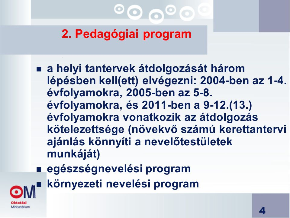 2. Pedagógiai program