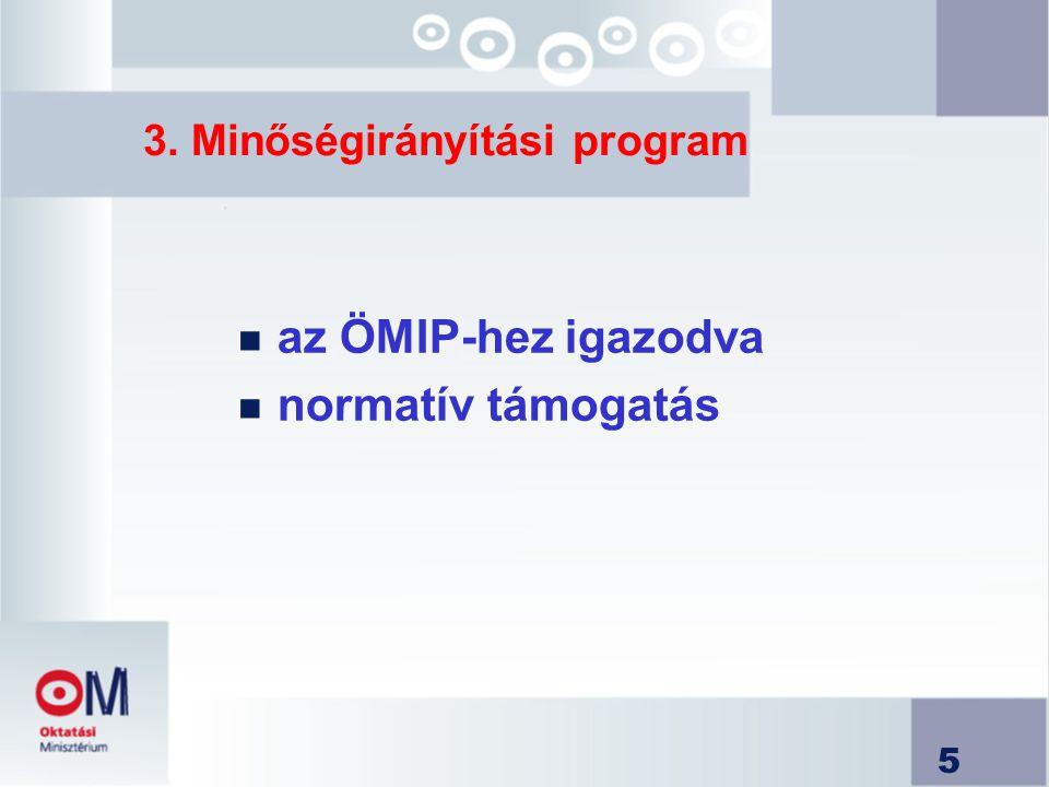 3. Minőségirányítási program