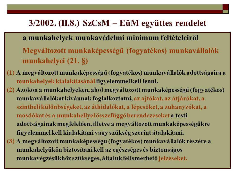 3/2002. (II.8.) SzCsM – EüM együttes rendelet