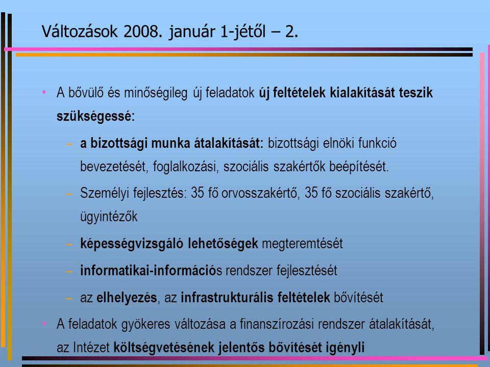 Változások 2008. január 1-jétől – 2.