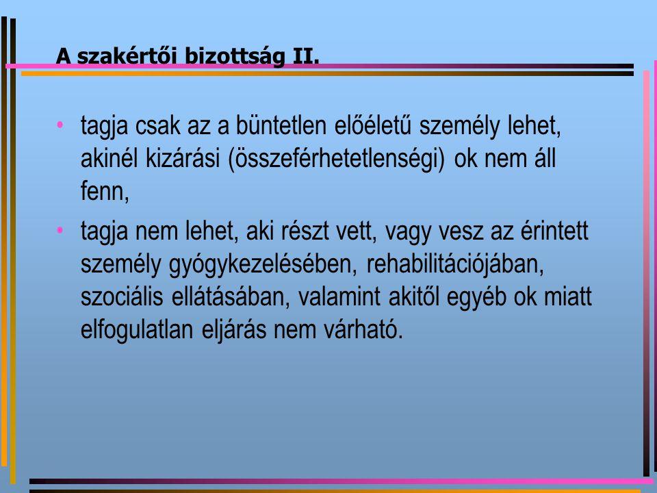 A szakértői bizottság II.