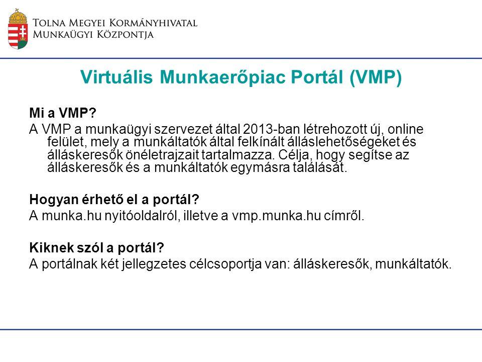 Virtuális Munkaerőpiac Portál (VMP)