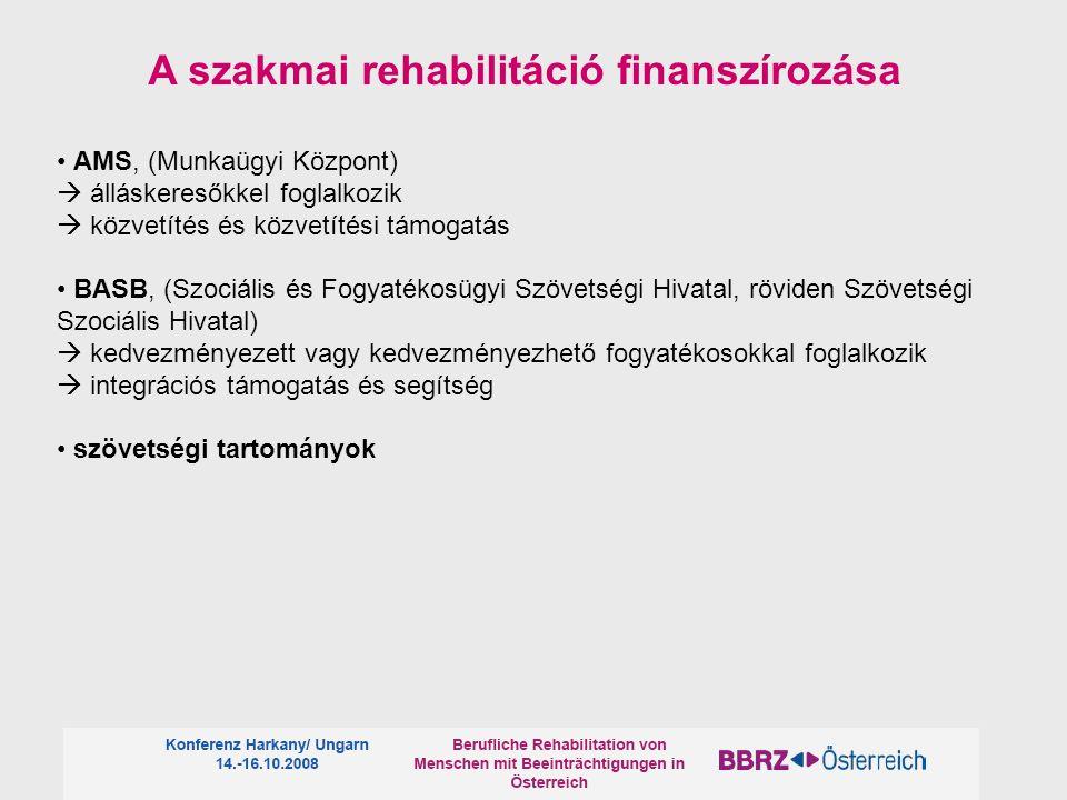 A szakmai rehabilitáció finanszírozása