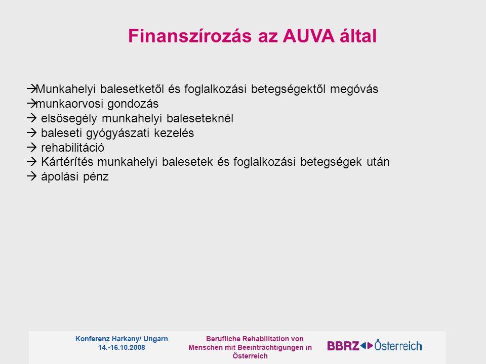 Finanszírozás az AUVA által