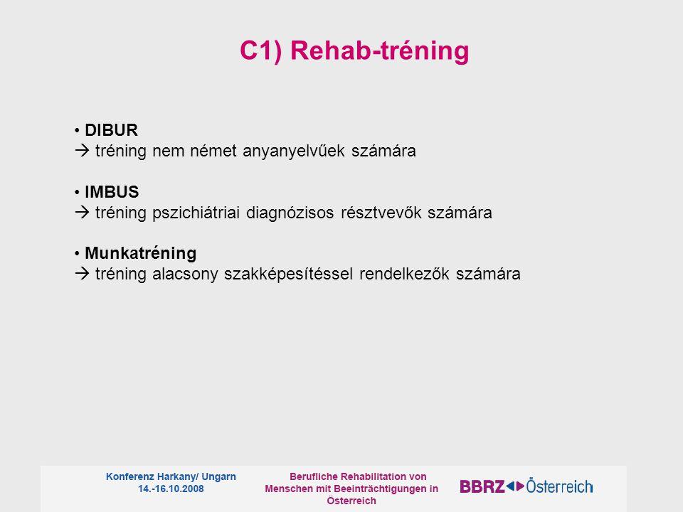 C1) Rehab-tréning • DIBUR  tréning nem német anyanyelvűek számára