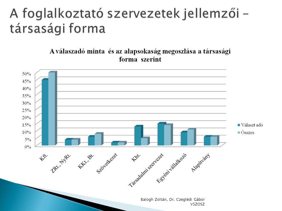 A foglalkoztató szervezetek jellemzői – társasági forma