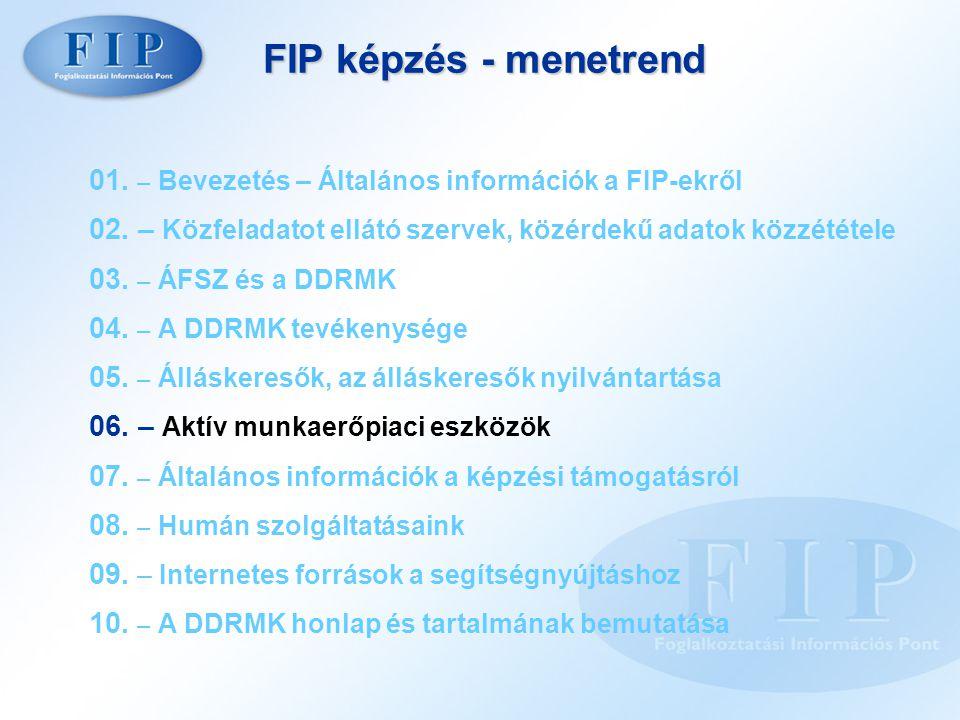 FIP képzés - menetrend 01. – Bevezetés – Általános információk a FIP-ekről.