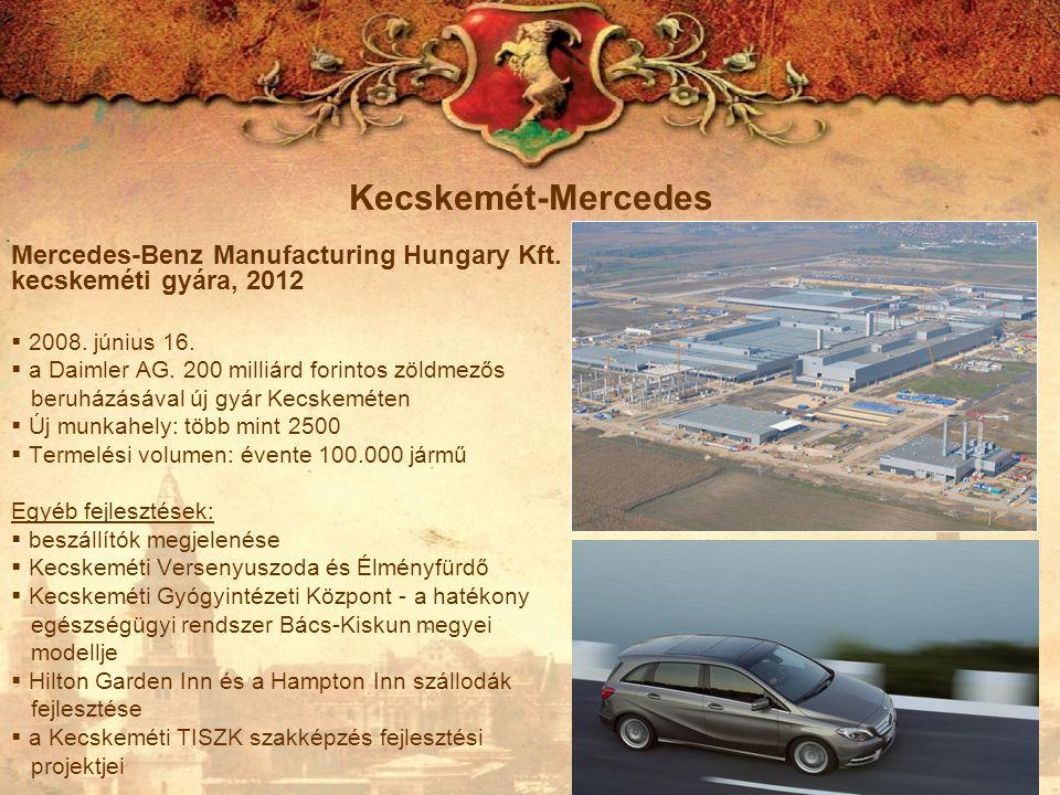 Kecskemét-Mercedes Mercedes-Benz Manufacturing Hungary Kft. kecskeméti gyára, 2012. 2008. június 16.