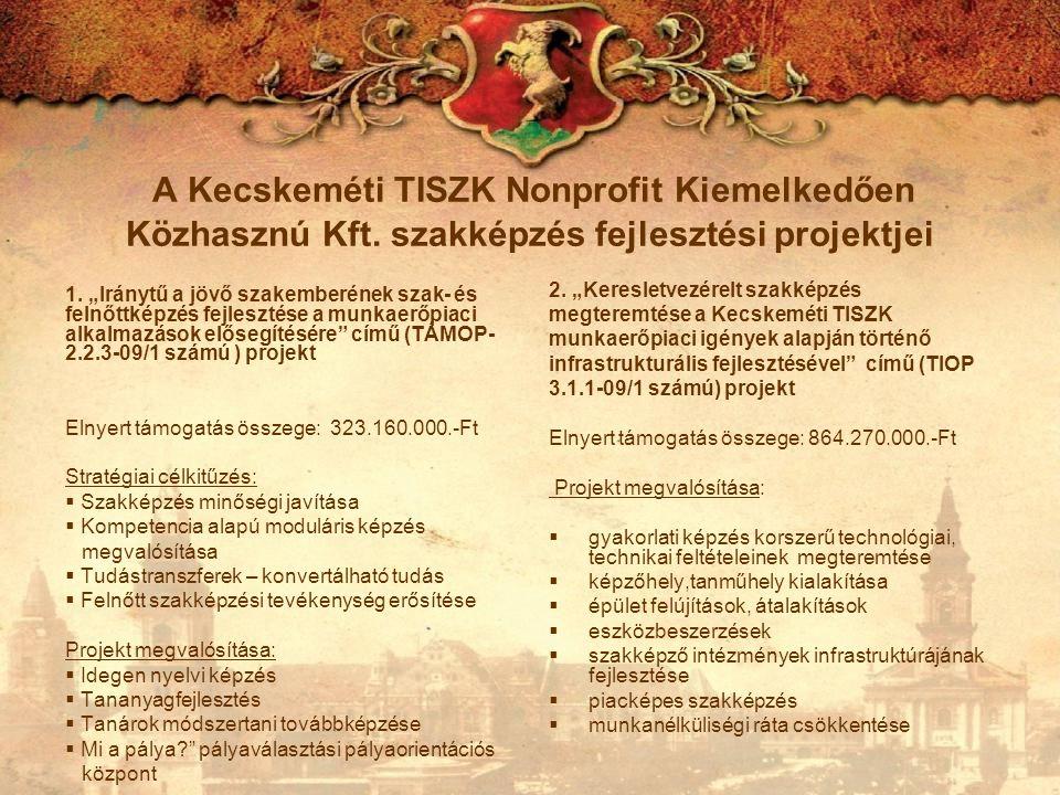 A Kecskeméti TISZK Nonprofit Kiemelkedően Közhasznú Kft