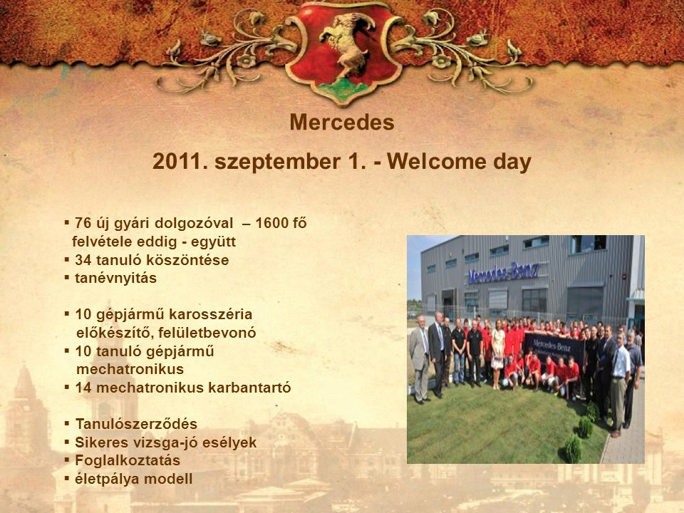 2011. szeptember 1. - Welcome day