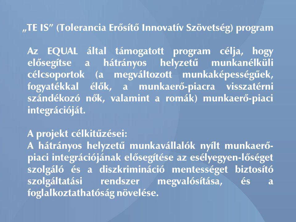 """""""TE IS (Tolerancia Erősítő Innovatív Szövetség) program"""