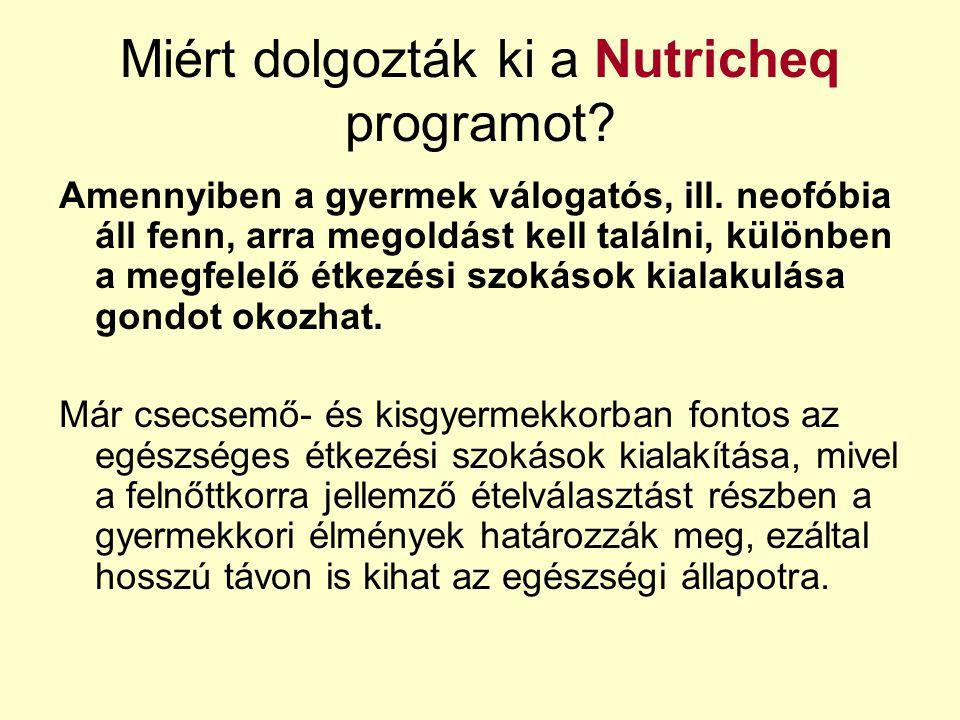 Miért dolgozták ki a Nutricheq programot
