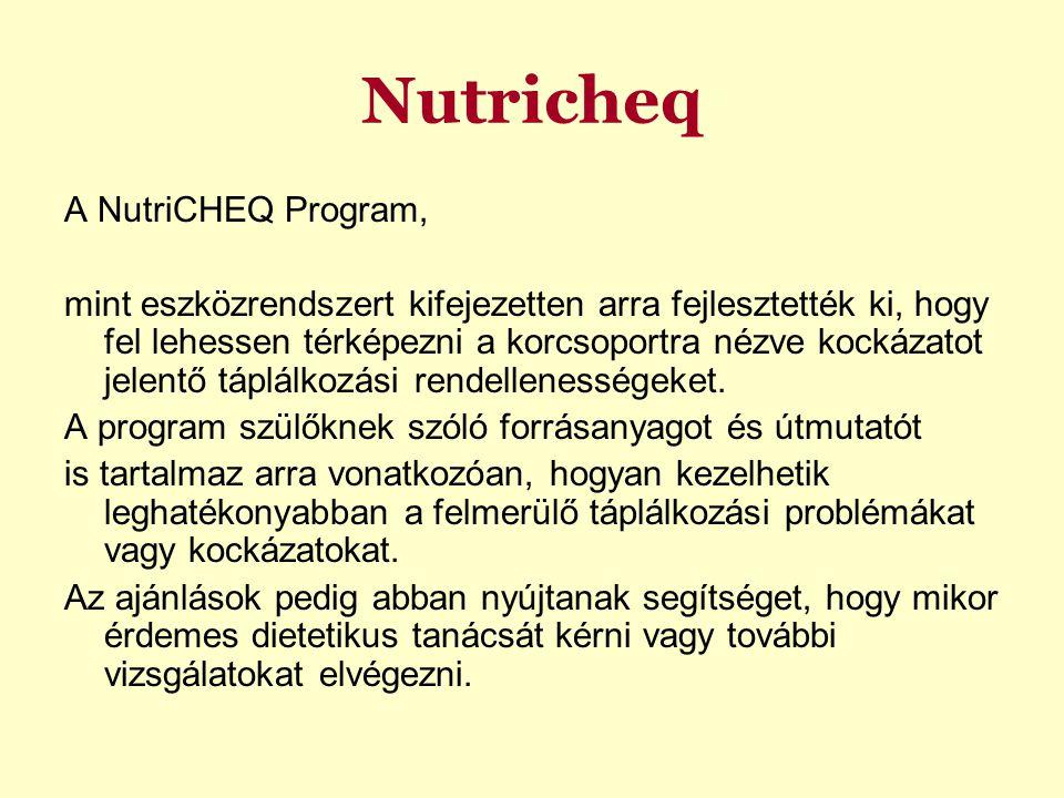 Nutricheq A NutriCHEQ Program,