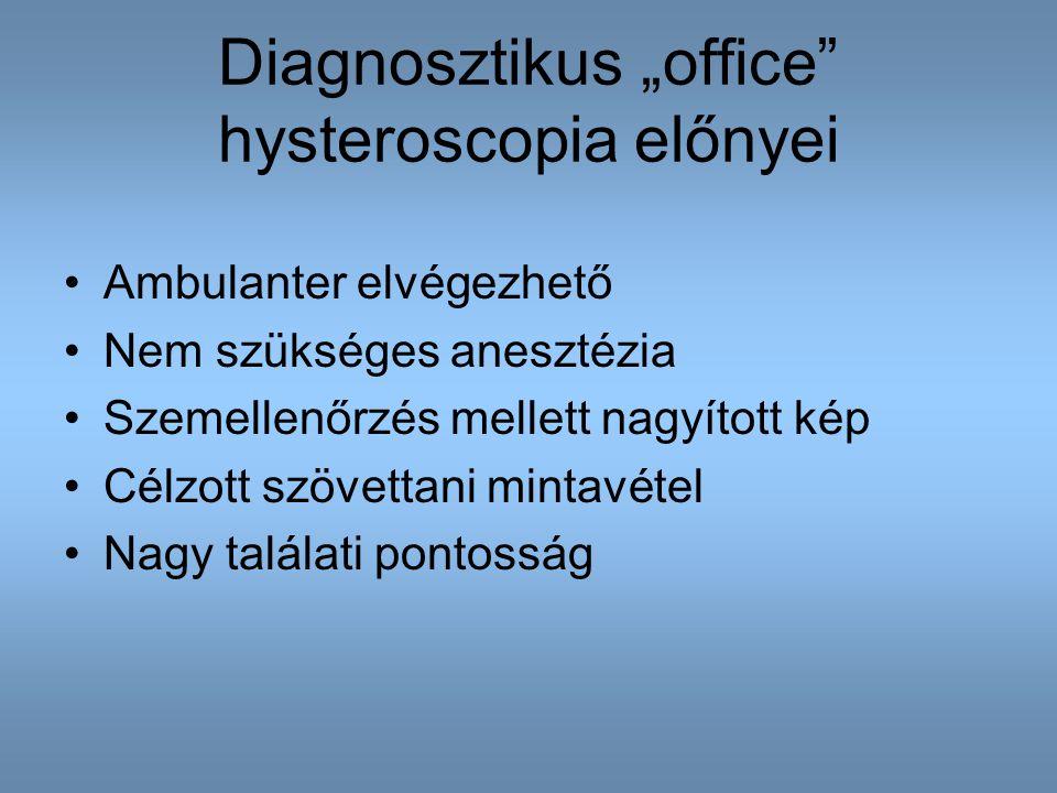 "Diagnosztikus ""office hysteroscopia előnyei"