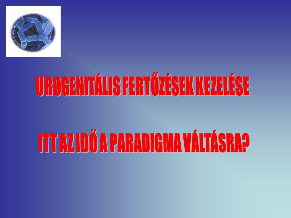 UROGENITÁLIS FERTŐZÉSEK KEZELÉSE ITT AZ IDŐ A PARADIGMA VÁLTÁSRA
