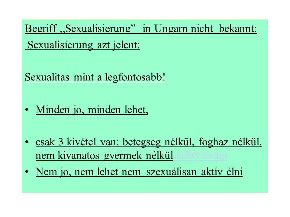 """Begriff """"Sexualisierung in Ungarn nicht bekannt:"""