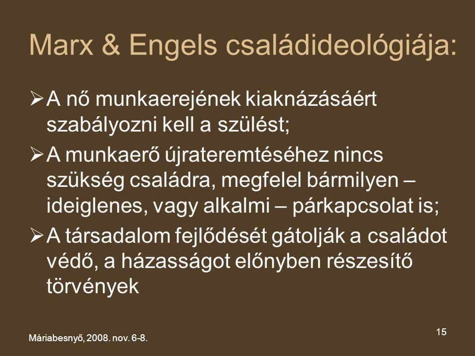Marx & Engels családideológiája: