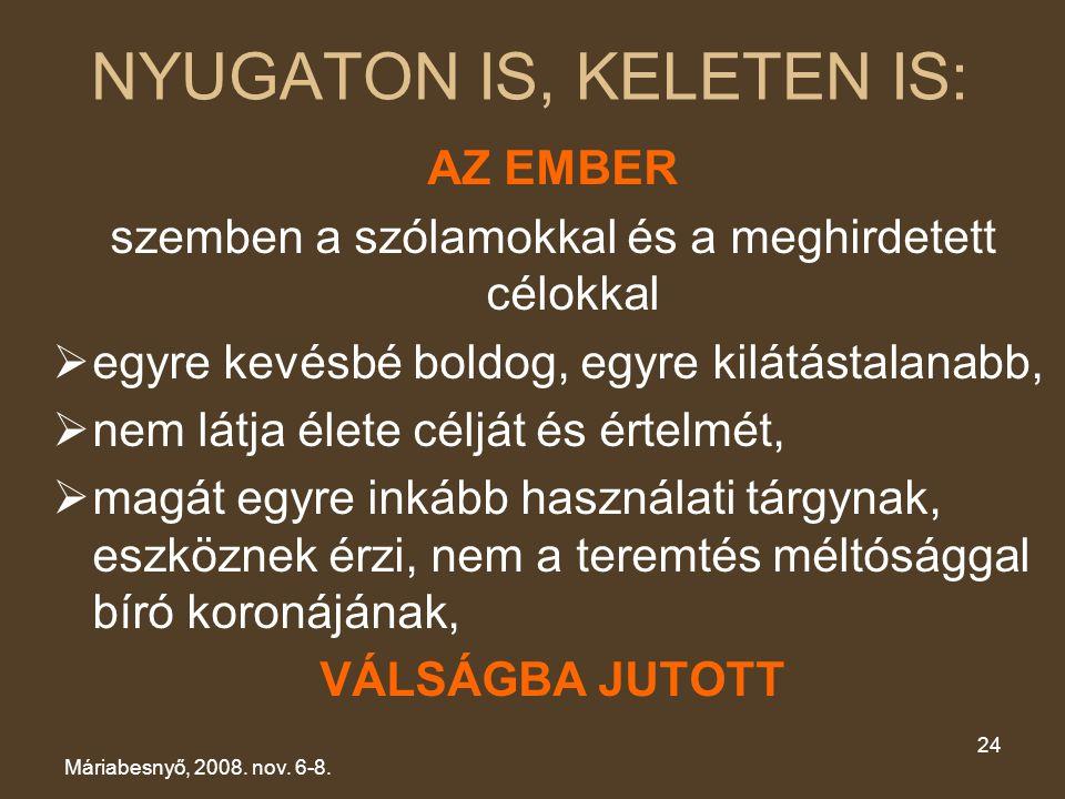 NYUGATON IS, KELETEN IS: