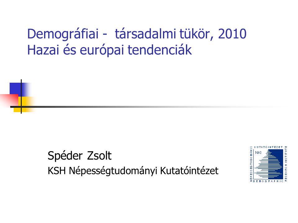 Demográfiai - társadalmi tükör, 2010 Hazai és európai tendenciák