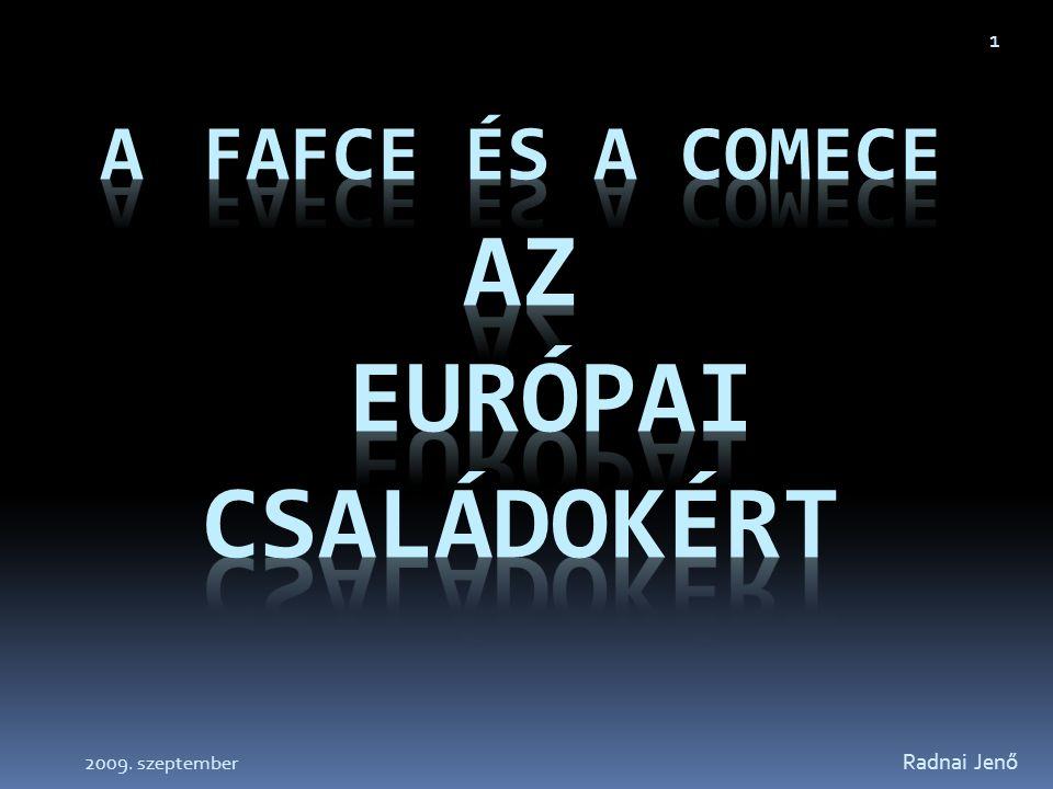 A FAFCE és a COMECE az európai családokért
