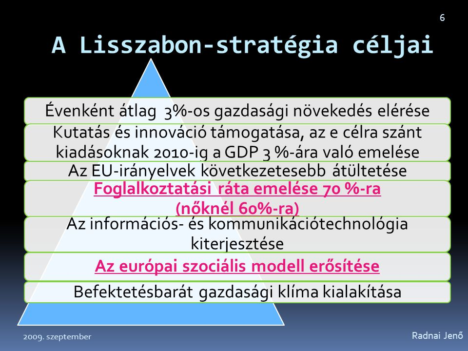 A Lisszabon-stratégia céljai