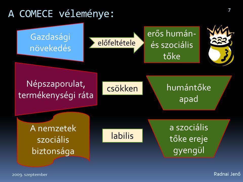 A COMECE véleménye: Gazdasági növekedés erős humán- és szociális tőke