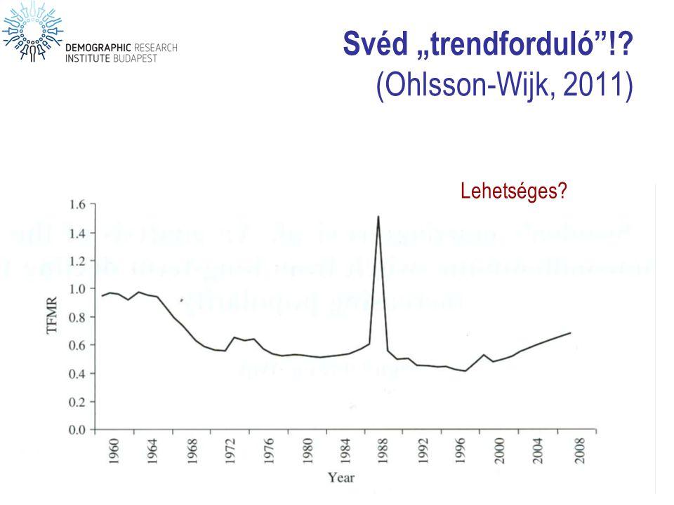"Svéd ""trendforduló ! (Ohlsson-Wijk, 2011)"