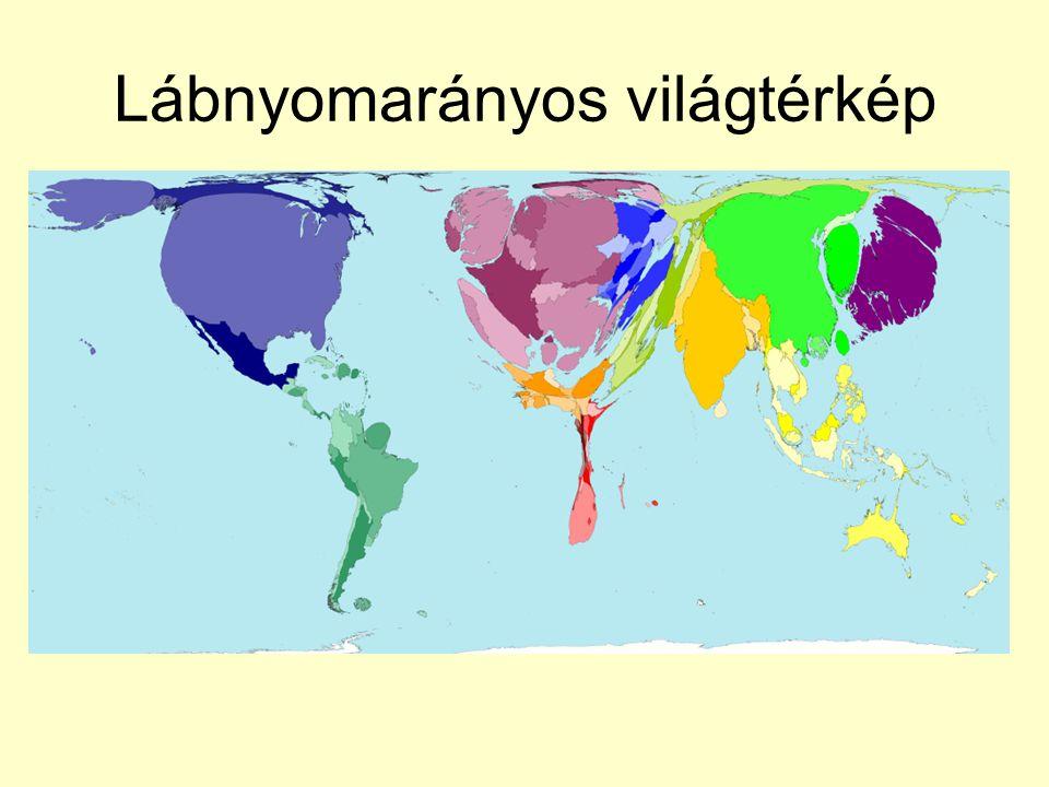 Lábnyomarányos világtérkép