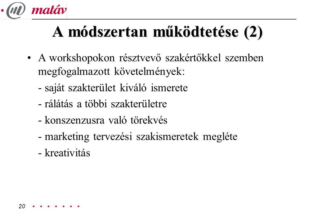 A módszertan működtetése (2)
