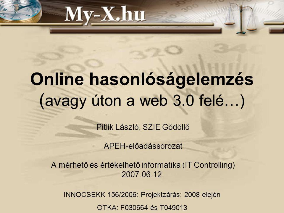 Online hasonlóságelemzés (avagy úton a web 3.0 felé…)