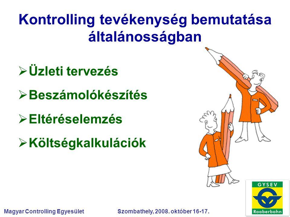 Kontrolling tevékenység bemutatása általánosságban