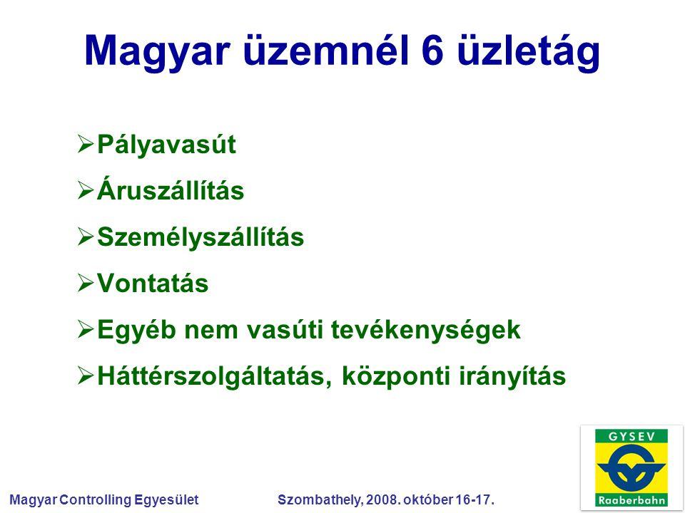 Magyar üzemnél 6 üzletág