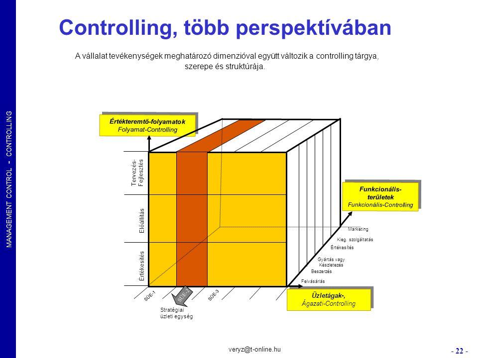 Controlling, több perspektívában