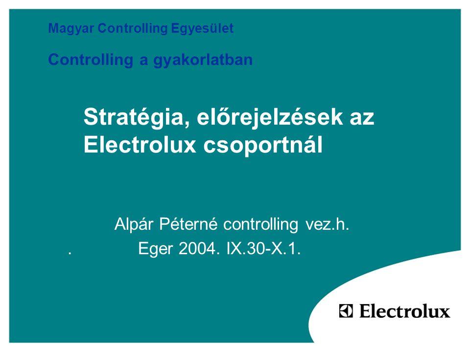 Stratégia, előrejelzések az Electrolux csoportnál