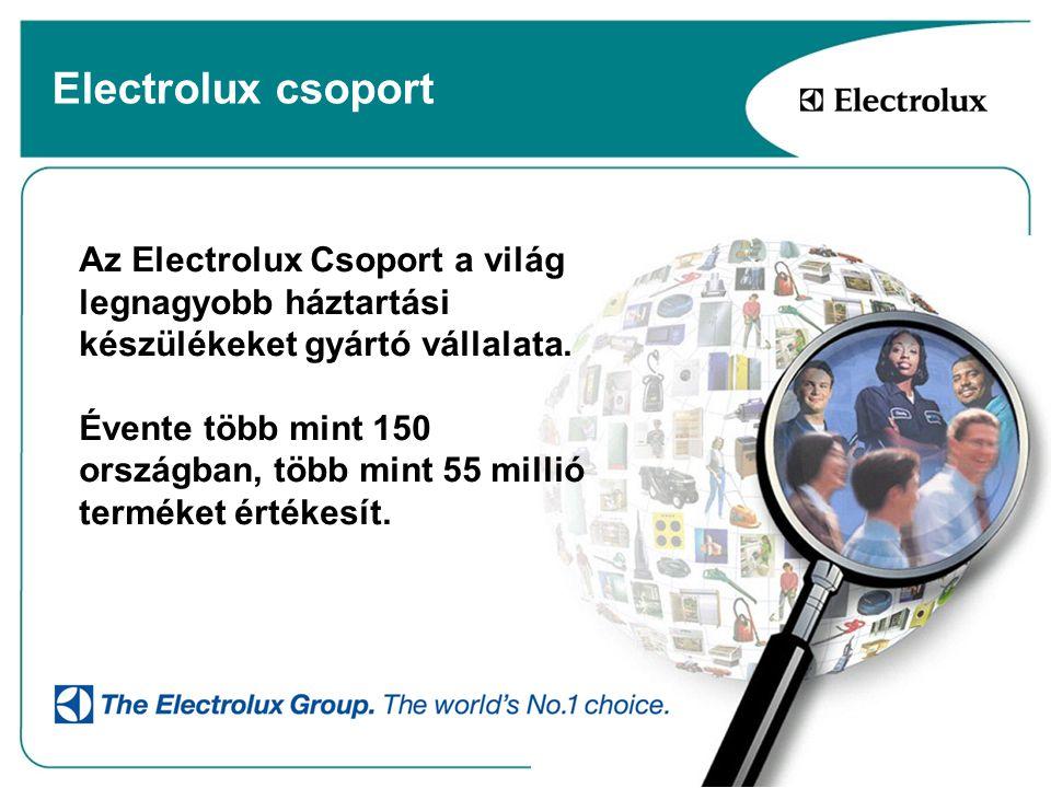 Electrolux csoport Az Electrolux Csoport a világ