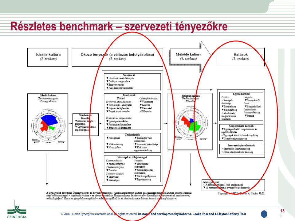 Részletes benchmark – szervezeti tényezőkre