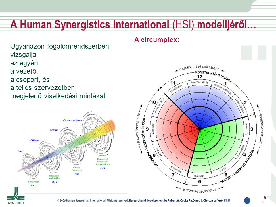 A Human Synergistics International (HSI) modelljéről…
