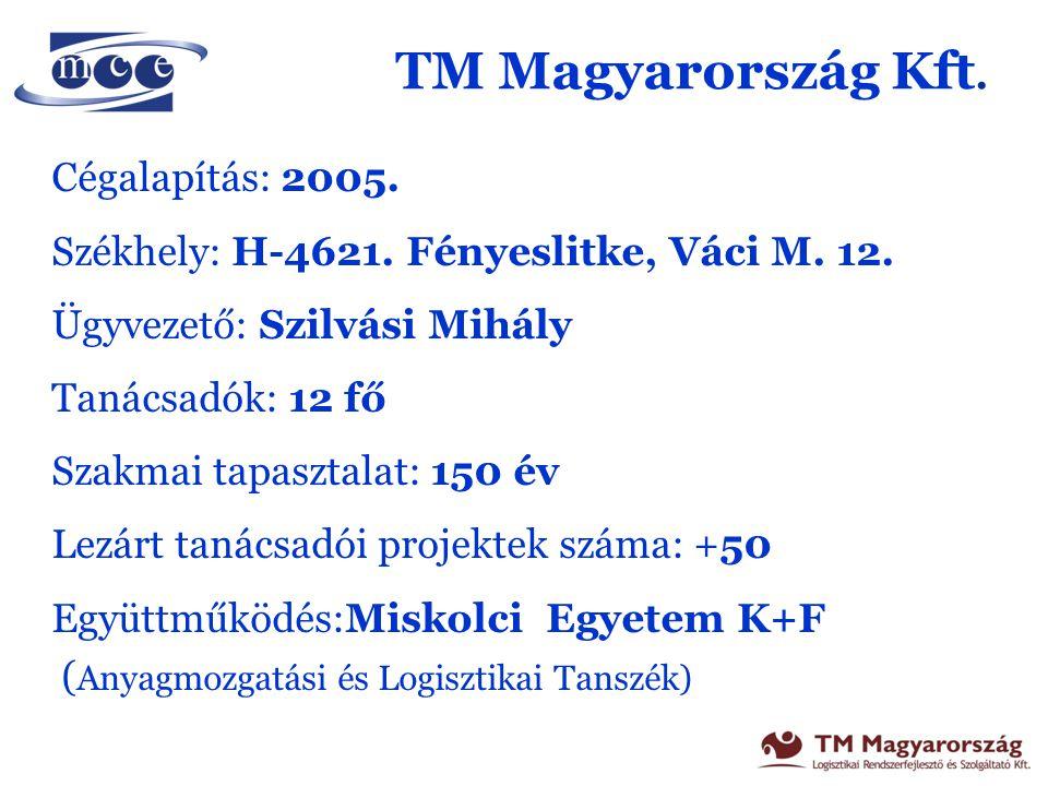TM Magyarország Kft. Cégalapítás: 2005.