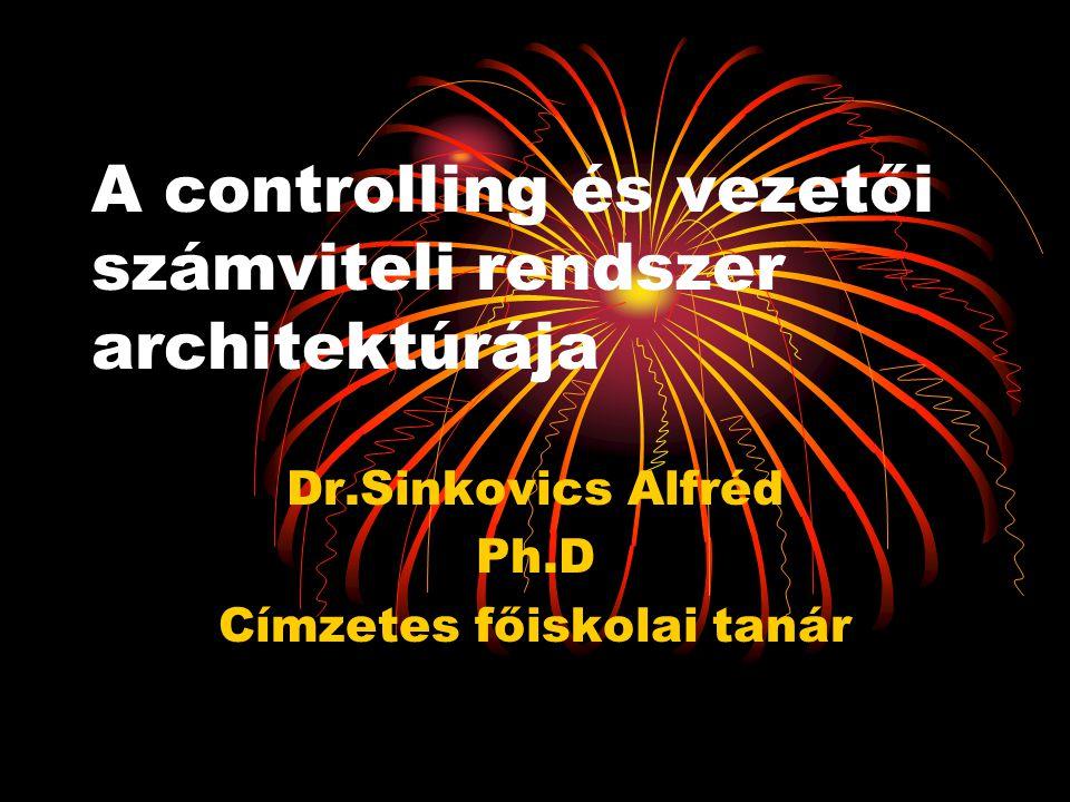 A controlling és vezetői számviteli rendszer architektúrája