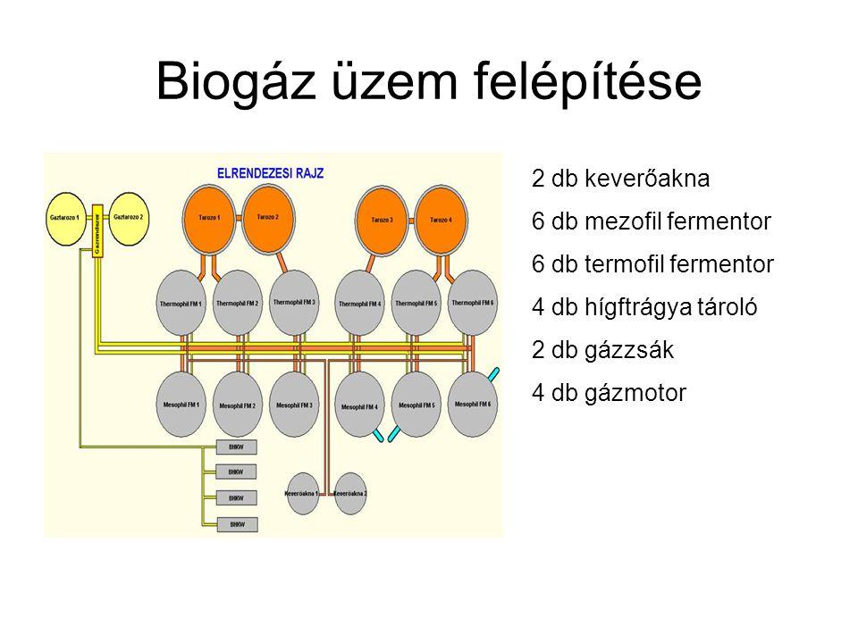 Biogáz üzem felépítése