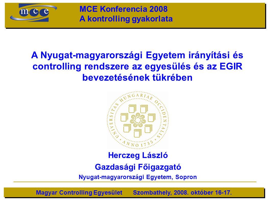 MCE Konferencia 2008 A kontrolling gyakorlata