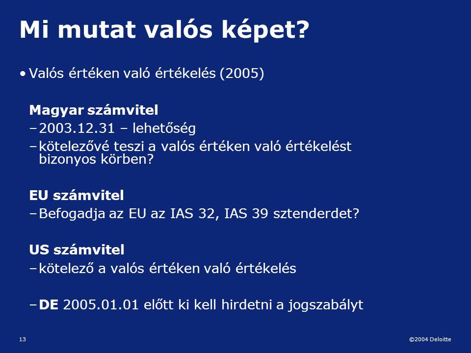 Mi mutat valós képet Valós értéken való értékelés (2005)