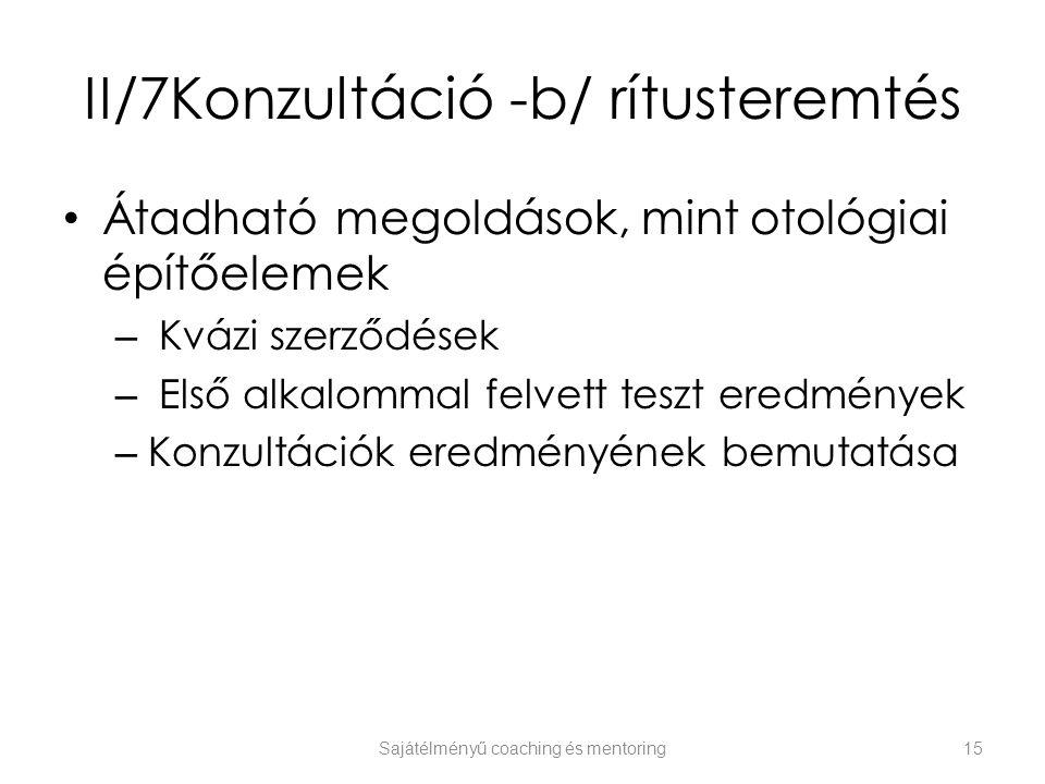 II/7Konzultáció -b/ rítusteremtés