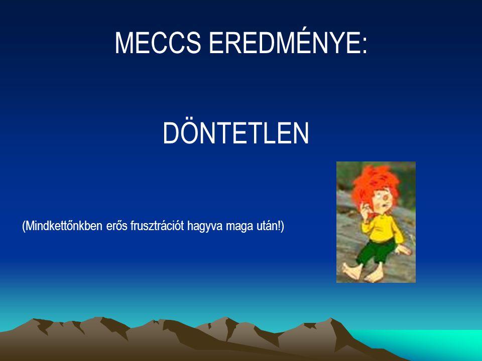 MECCS EREDMÉNYE: DÖNTETLEN