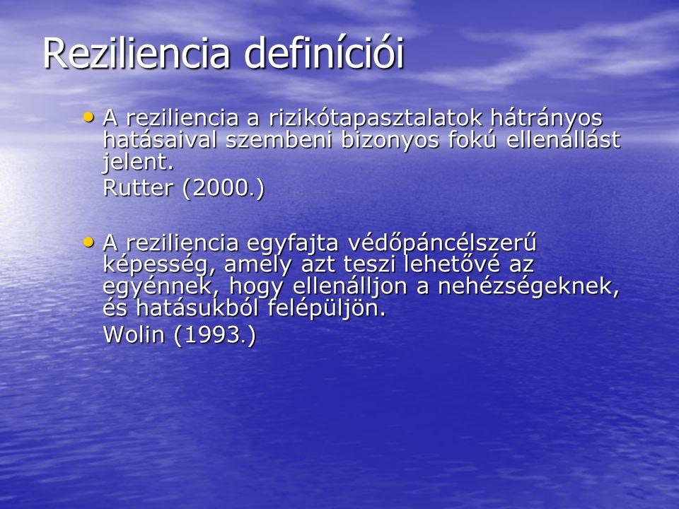 Reziliencia definíciói