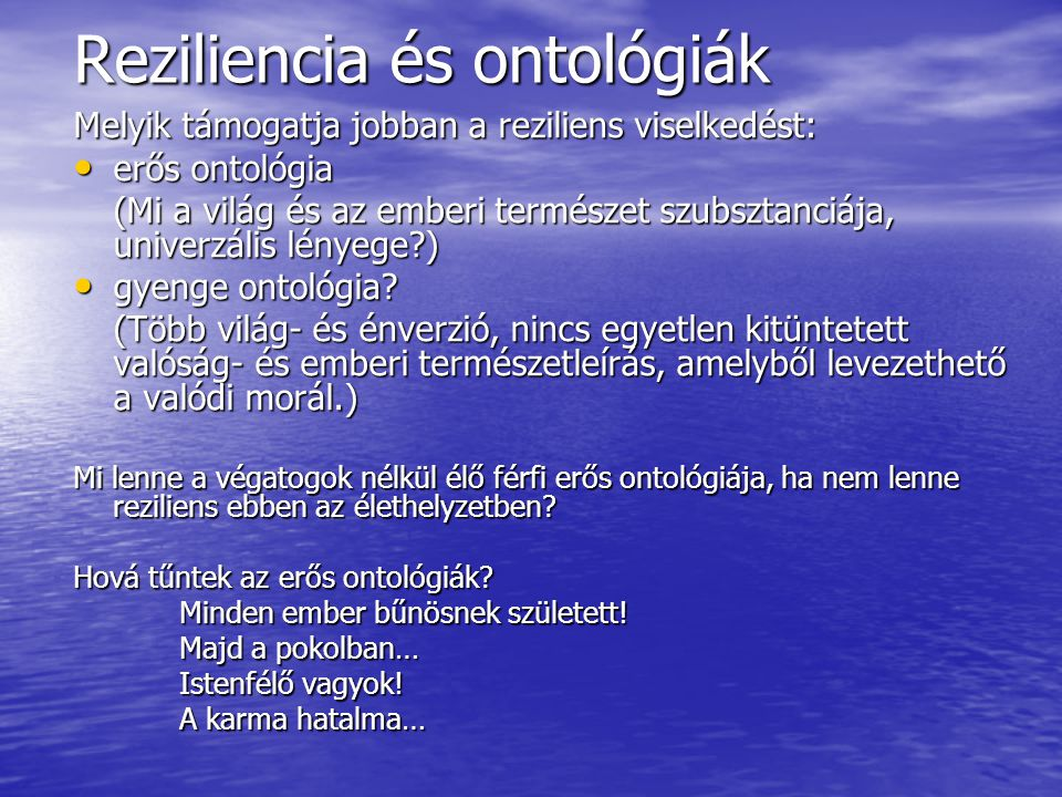 Reziliencia és ontológiák